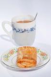 Kulebiak i kawa Zdjęcie Royalty Free