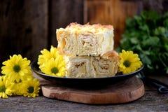 Kulebiak od miękkiego i ciężkiego sera zdrowa żywność Obrazy Royalty Free