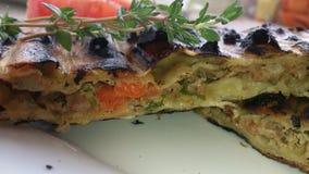 Kulebiak w grill sekci Zdjęcie Royalty Free