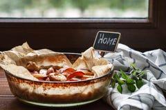 Kulebiak z śliwkami Zdjęcie Royalty Free