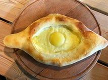 Kulebiak z serem i jajkiem Zdjęcie Stock