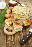 Kulebiak z wiosny cebulą Fotografia Royalty Free