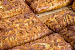Kulebyaka cabbage pie. Russian cuisine Stock Photo