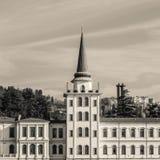 Kuleli militarna szkoła średnia od Bosphorus, Istanbuł Turcja, Grudzień, - 2014 obraz royalty free