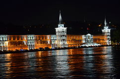 Kuleli Military High School night shoot in istanbul Royalty Free Stock Images