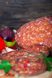 Kulen, beef and pork sausage Royalty Free Stock Photos