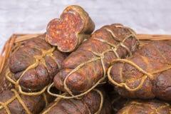 Kulen est saucisse épicée authentique célèbre photo stock