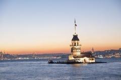 Kulesi di Kiz (la torre della ragazza) Immagine Stock