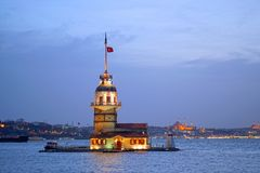 Kulesi virginal Estambul del kiz de la torre del ` s Foto de archivo