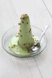 Kulfi del pistacchio, gelato indiano Fotografia Stock Libera da Diritti