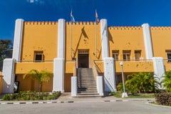 Kulhål på de tidigare LaMoncada baracksna, viktigt ställe av kubansk historia, Santiago de Cu royaltyfria bilder