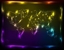 kuli ziemskiej światła mapa Fotografia Stock