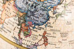 Kuli ziemskiej Azja Południowo-Wschodnia i wschód Obrazy Royalty Free