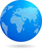 Kuli ziemskiej błękitny ikona - technologia temat Obrazy Royalty Free