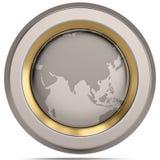 Kuli ziemskiej 3D symbol na białym tle ilustracja 3 d ilustracja wektor