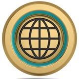 Kuli ziemskiej 3D symbol na białym tle ilustracja 3 d ilustracji