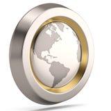 Kuli ziemskiej 3D symbol na białym tle ilustracja 3 d royalty ilustracja