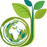 Kuli ziemskiej drzewa logo royalty ilustracja