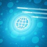Kuli ziemskiej ikona z biznesowymi słowami Zdjęcie Stock