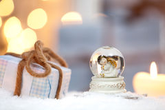 kuli ziemskiej ilustracja odizolowywał wektorowego śniegu biel Zdjęcia Stock