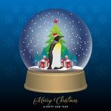 kuli ziemskiej ilustracja odizolowywał wektorowego śniegu biel Zdjęcie Royalty Free