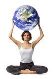 kuli ziemskiej kobieta Obrazy Royalty Free