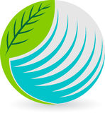 kuli ziemskiej liść logo ilustracji