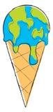 kuli ziemskiej lody stapianie Obraz Royalty Free