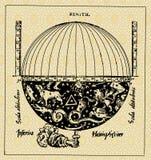 kuli ziemskiej mapa Zdjęcia Royalty Free