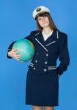kuli ziemskiej morza munduru kobieta Zdjęcia Royalty Free