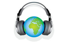 kuli ziemskiej muzyka Obraz Royalty Free