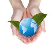 kuli ziemskiej ręka zdjęcie stock