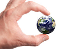 kuli ziemskiej ręka Zdjęcia Royalty Free