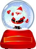 kuli ziemskiej Santa śnieg ilustracja wektor