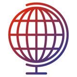 Kuli ziemskiej siatki piłka na bielu ilustracja wektor