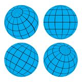 Kuli ziemskiej siatki piłka - wektorowa ilustracja ilustracji