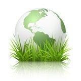 kuli ziemskiej trawa ilustracja wektor