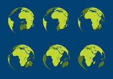 kuli ziemskiej wydrążenie Ilustracji