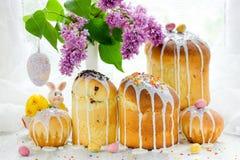 Kulich торта пасхи Стоковое Фото