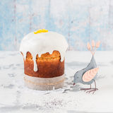 Kulich, Russian Easter Bread Stock Photography