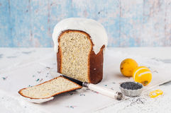 Kulich, Russian Easter Bread Royalty Free Stock Photos