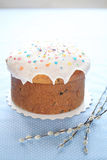 Kulich - Russische Pasen-Cake Royalty-vrije Stock Foto