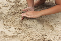 Kulichiki build sand Royalty Free Stock Photos