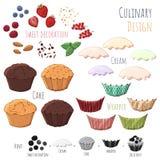 Kulinarischer Designkleiner kuchen Lizenzfreies Stockfoto