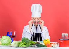 Kulinarischer Experte E i Kochschulekonzept lizenzfreies stockfoto