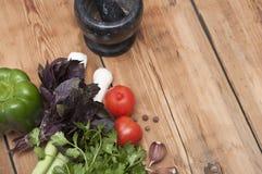 Kulinarischer Nahrungsmittelhintergrund Stockfotografie