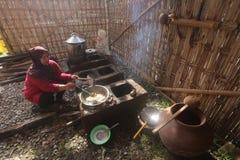 Kulinarisches Festival des traditionellen Kochgeschirrs Stockbild