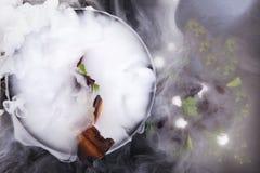 Kulinarisk abstraktion Molekylär kokkonst Arkivfoton