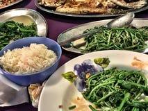 Kulinarisk asiatisk fröjd i Kuching, Borneo Arkivbild