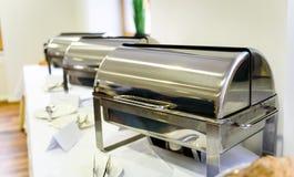 Kulinarisk buffématställe för kokkonst som sköter om äta middag matberöm arkivfoto
